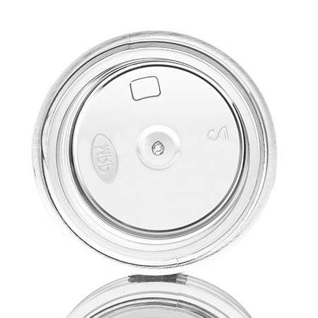 1/4 oz clear PS thick wall jar with 33-400 neck finish