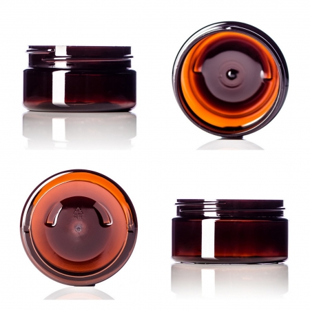 Amber PET Low Profile Jars
