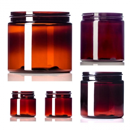 Amber PET Single Wall Jars
