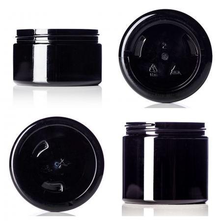 Black PET Single Wall Jars