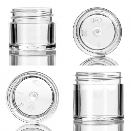 Clear PS Thick Wall Cosmetic Jars