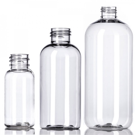 Clear PET Boston Round Bottles