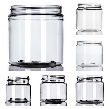 Clear PET Single Wall Jars