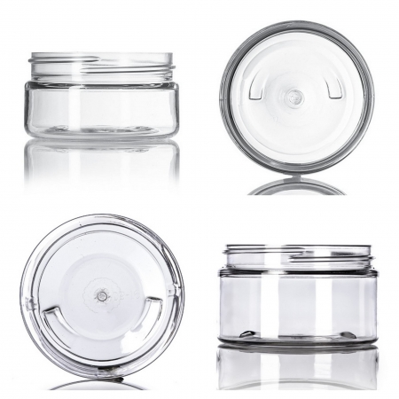 Clear PET Low Profile Jars