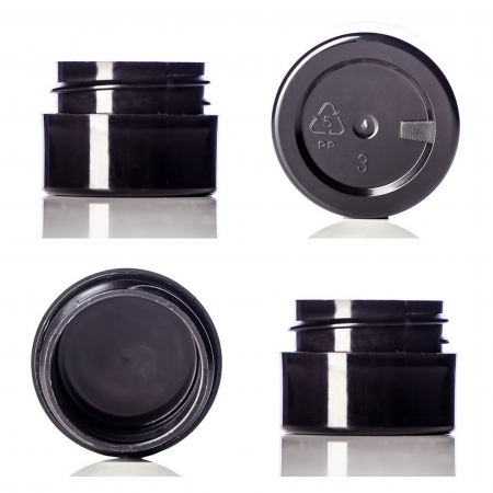 Black PP Double Wall Cosmetic Jars