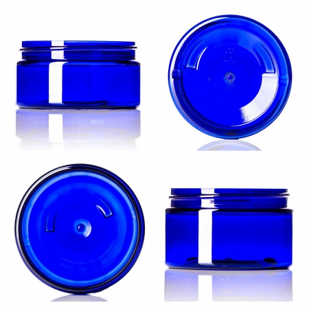 Cobalt Blue PET Low Profile Jars