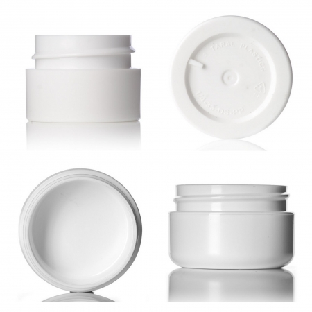 White Double Wall Cosmetic Jars